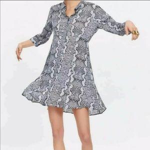Zara 2019 Snake Print Button Dress Size L